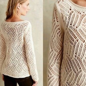 Anthropologie | Angel of the North Crochet Sweater